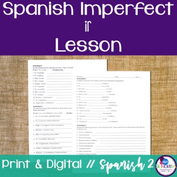 Spanish Imperfect Ir Lesson