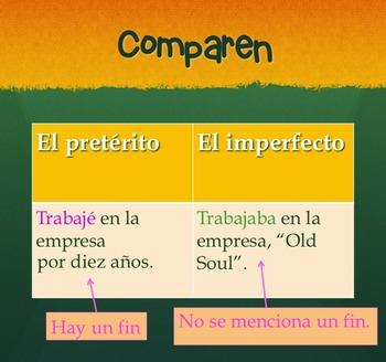 Spanish Preterite Imperfect No-Prep Lesson Plans and Curriculum