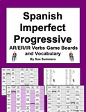 Spanish Imperfect Progressive AR/ER/IR Verbs Board Games and Vocabulary