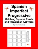 Spanish Imperfect Progressive Matching Squares Puzzles and Assignment