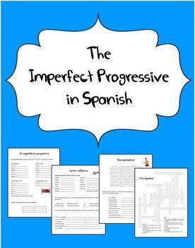 Spanish Imperfect Progressive Packet