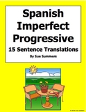 Spanish Imperfect Progressive Verbs With House Vocabulary