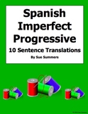 Spanish Imperfect Progressive Verbs With Preterit and House Vocabulary