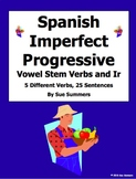 Spanish Imperfect Progressive Vowel Stem Verb Translations Worksheet