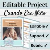 Editable Spanish Project Imperfect Tense | Cuando Era Niño
