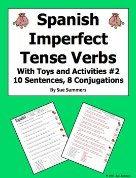Spanish Imperfect Sentences with Gustar and Encantar - Toys & Activities #2