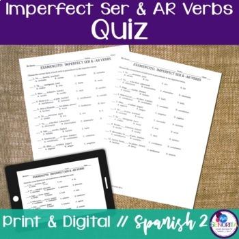 Spanish Imperfect Ser & -AR Verbs Quiz