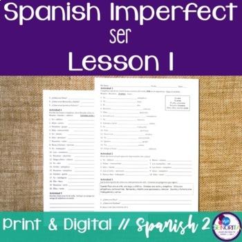 Spanish Imperfect Ser Lesson