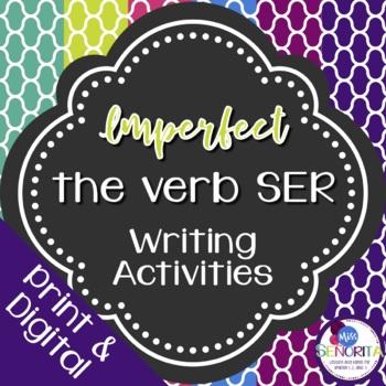 Spanish Imperfect Ser Writing Exercises
