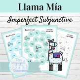 Spanish Imperfect Subjunctive Llama Mía Speaking Activity