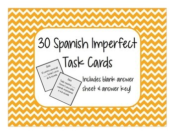 Spanish Imperfect Task Cards