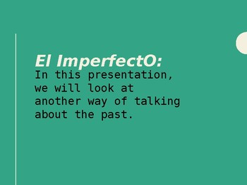 Spanish Imperfect Tense Conjugation Interactive Notebook Foldable PowerPoint