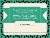 Spanish Imperfect Tense Conjugation Interactive Notebook F