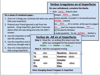 Spanish Imperfect Tense Conjugation Super Pack