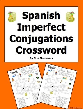 Spanish Imperfect Tense Crossword Puzzle and Image IDs