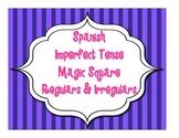 Spanish Imperfect Tense Magic Square