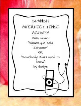 Spanish Imperfect Tense Song Acitivity