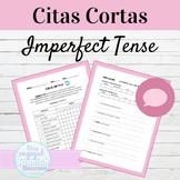 Spanish Imperfect Tense Citas Cortas Speaking Activity