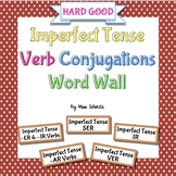 Spanish Imperfect Tense Verb Conjugations Word Wall {HARD GOOD}
