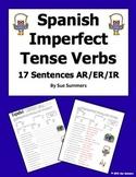 Spanish Imperfect Tense Verbs Worksheet - 17 Sentences