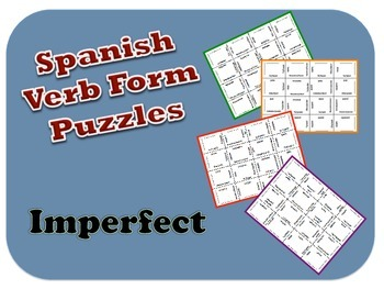 Spanish Imperfect Verb Form Puzzle Activity