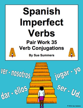 Spanish Imperfect Verbs Pair Work Las Escaleras Activity and Quiz