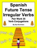 Spanish Future Tense Verbs Pair Work Las Escaleras Activity and Quiz