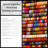 Spanish Imperfect Worksheet: Finishing Sentences about Celebrities' Childhood