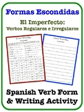 Spanish Imperfect Writing Activity (Regular & Irregular Verbs)