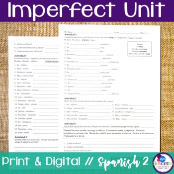 Spanish Imperfect Bundle