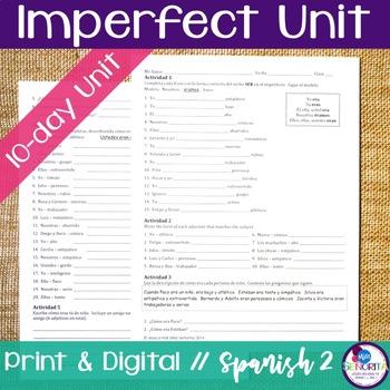 Spanish Imperfect Bundle