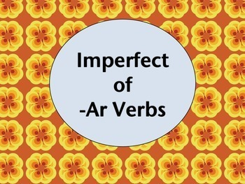 Spanish Imperfect of -AR Verbs Keynote Slideshow for Mac