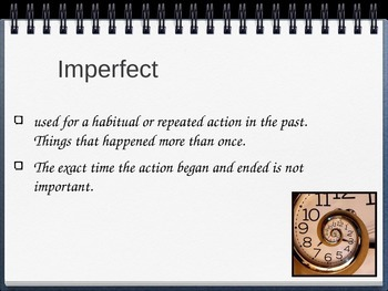 Spanish Imperfect of -AR Verbs PowerPoint Slideshow Presentation