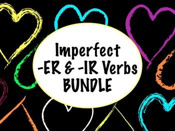 Spanish Imperfect of -ER & -IR Verbs BUNDLE- Slideshow, Worksheets Pack
