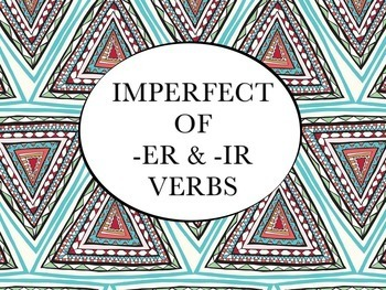 Spanish Imperfect of -ER and -IR Verbs Keynote Slideshow for Mac