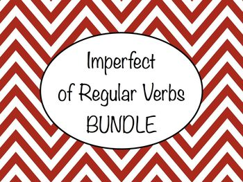 Spanish Imperfect of Regular Verbs BUNDLE- Slideshows, Worksheet Packs