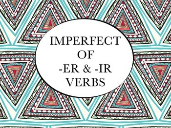Spanish Imperfect of -ER & -IR Verbs PowerPoint Slideshow Presentation