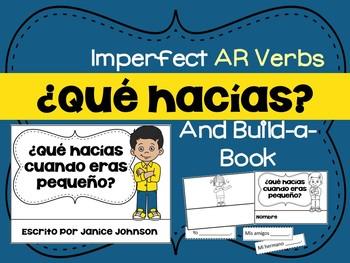 Spanish Imperfect tense AR Verbs Reader & Build-A-Book ~ el imperfecto