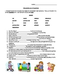 Spanish Imperfect worksheet, Realidades 2 Chapter 4A, conj