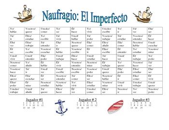 Spanish Imperfecto Verb Form Activity (Naufragio)