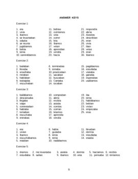 Spanish Imperfecto  (revised)