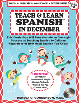 Spanish In December Lesson Plan & CD (Ages 2-10) (Digital Download)