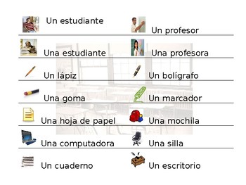 """Spanish """"In The Classroom"""" Guided Notes"""