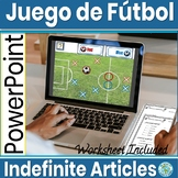 Spanish Indefinite Articles Game Juego de Futbol