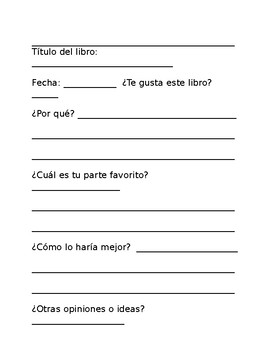Spanish Independent Reading Packet