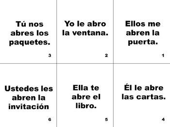 Spanish Indirect Object Pronoun Flashcards