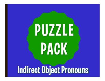 Spanish Indirect Object Pronoun Puzzle Pack
