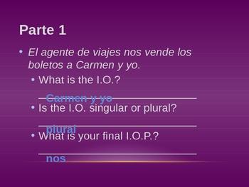 Spanish Indirect Object Pronoun notes