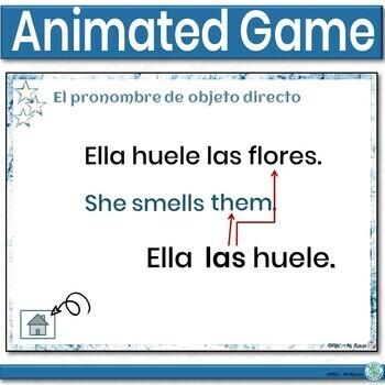 Spanish Indirect Object Pronouns Game Las Estrellas