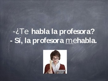 Spanish Indirect Object Pronouns Game via PowerPoint Slideshow
